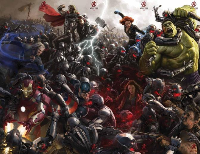 Imagens de Hulkbuster e Ultron
