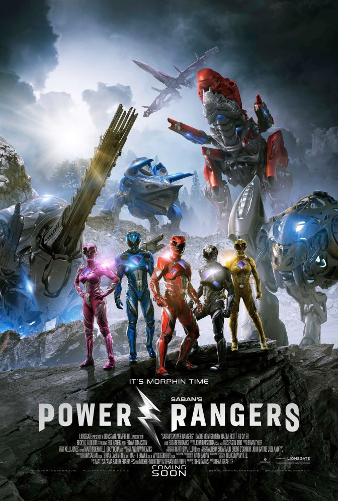 Cinemas apresentam novos combos do filme Power Rangers