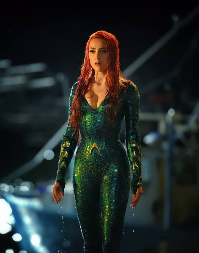 Visual de Amber Heard como Mera