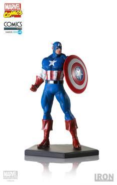 Iron Studios - Captain America Art Scale 1 10 - Marvel Comics Série 4 06