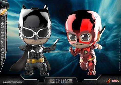 hot toys - cosbaby batman and flash justice league