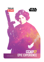 ccxp 2017 credencial star wars epic experience leia