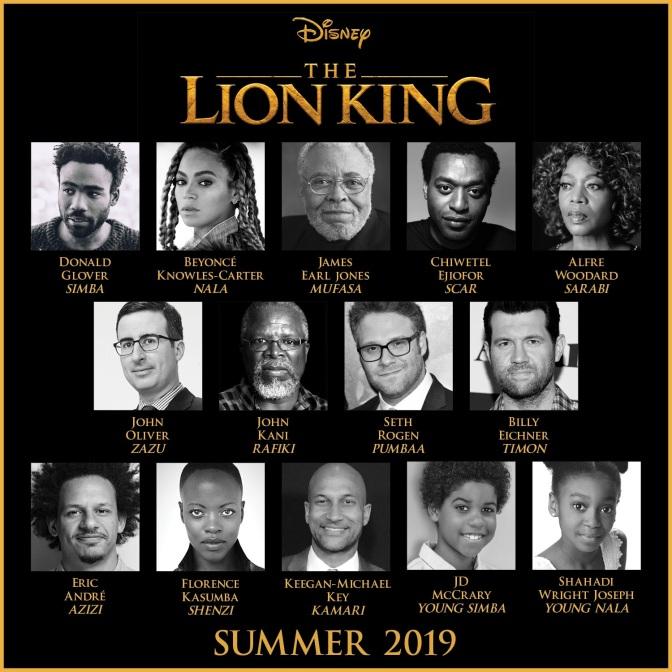 Conheça o elenco do Live-Action de O Rei Leão